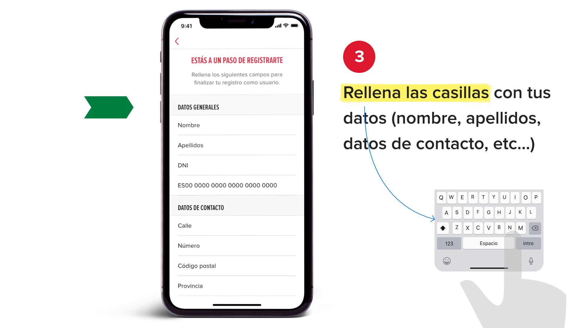 Rellena las casillas con tus datos