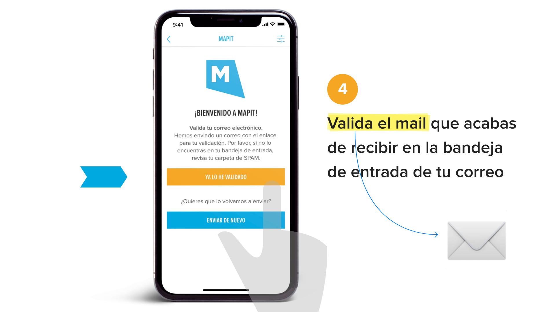 Valida el mail que acabas de recibir en la bandeja de entrada de tu correo