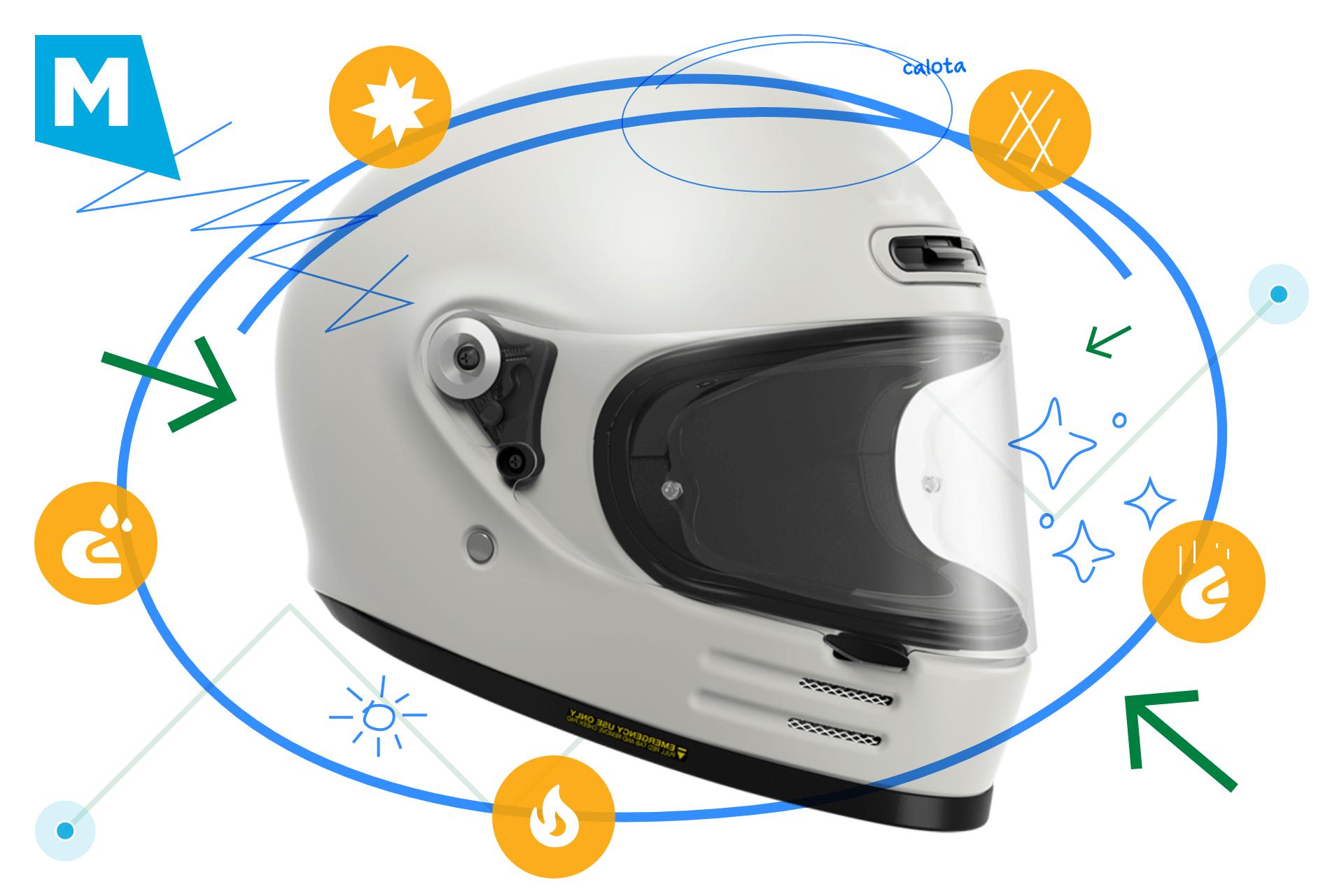 Mantenimiento del casco de la moto
